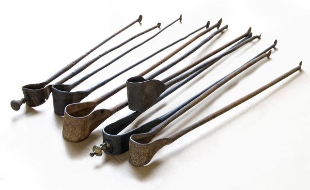 Our online collection of French antique fireplace tongs