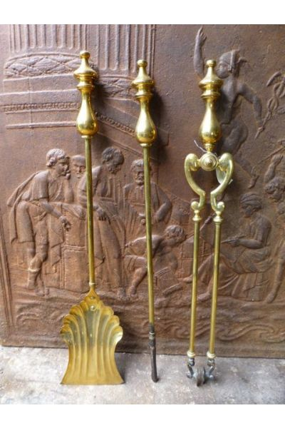 Brass Fireplace Tools made of 16
