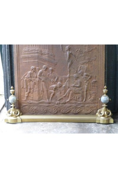 French Fireplace Fender made of 16,153