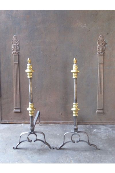 Louis XIII Andirons | Landiers made of 15,33