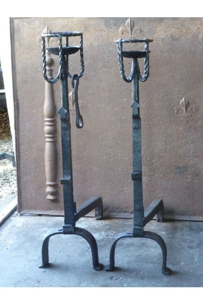 Large Andirons | Landiers made of 15