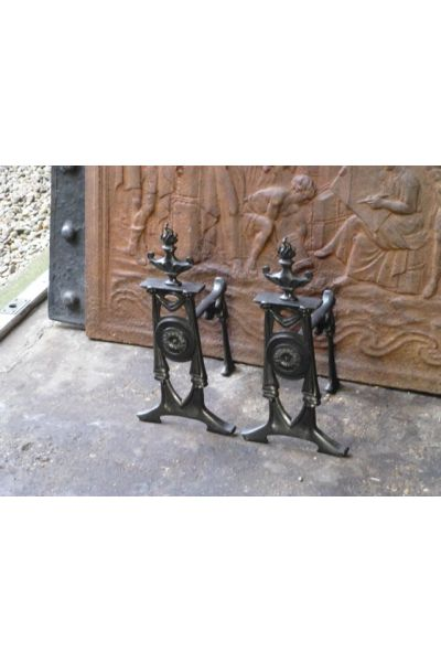 Victorian Rests Fire Irons made of 14