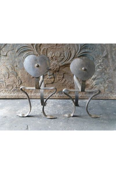 Art Nouveau Rests Fire Tools made of 15