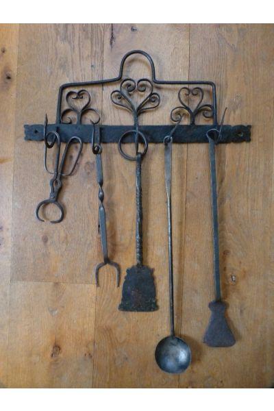 Antique Dutch Fire Tools made of 15