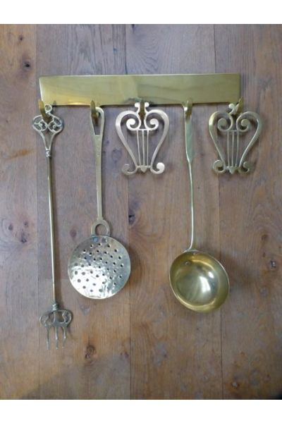 Dutch Fireplace Tools made of 33,47