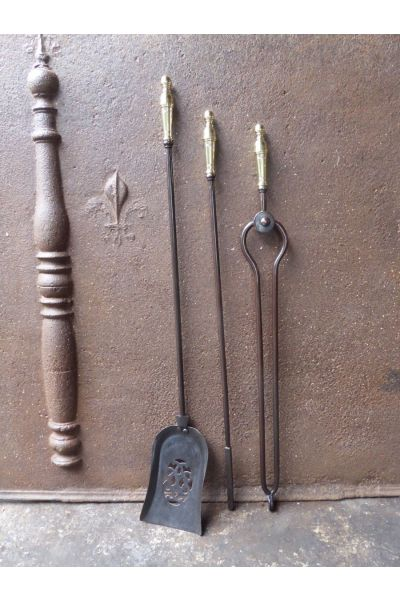 Victorian Fireplace Tool Set made of 15