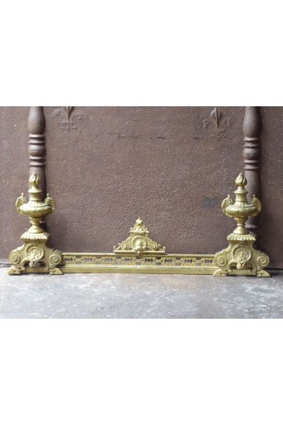 Brass Fireplace Fender made of 15,16