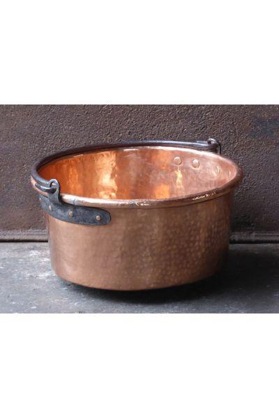 Polished Copper Log Basket made of 15,47