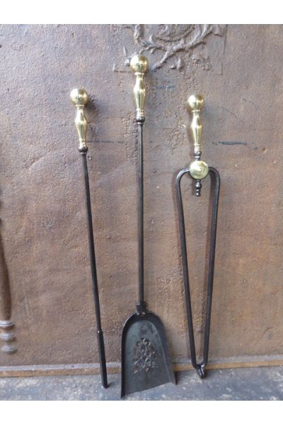Victorian Fireplace Tool Set made of 15,33