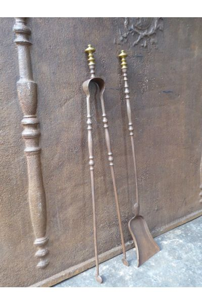 Napoleon III Fireplace Tools made of 15,16