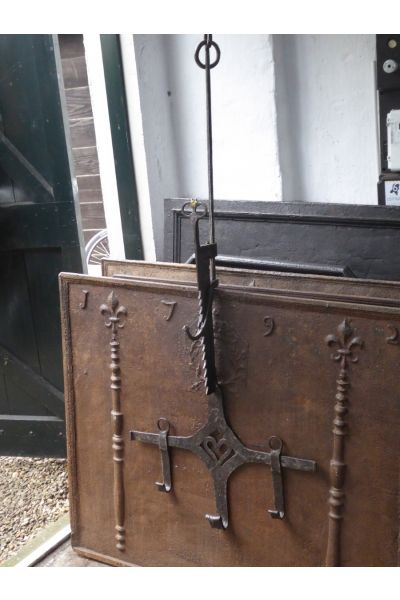 17th c Fireplace Trammel made of 15