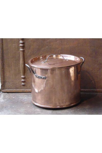 Large Polished Copper Log Basket made of 15,47