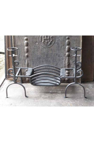 Wrought Iron Fire Grate made of 15