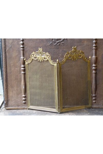 Brass Fireplace Screen made of 16