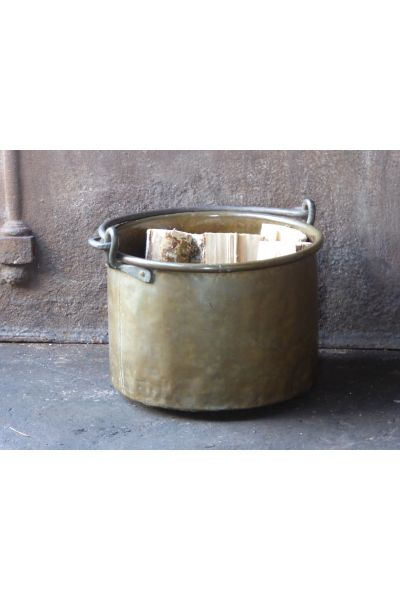 Antique Firewood Bucket made of 15,16