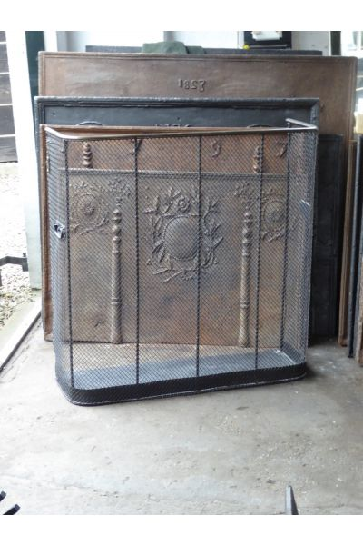 Large Victorian Fire Guard made of 33,154,155