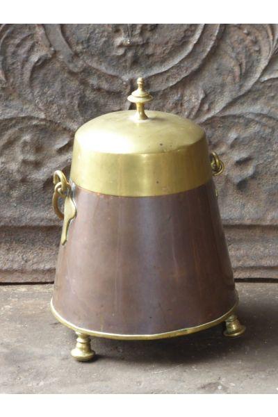 Antique copper 'doofpot' made of 16,31