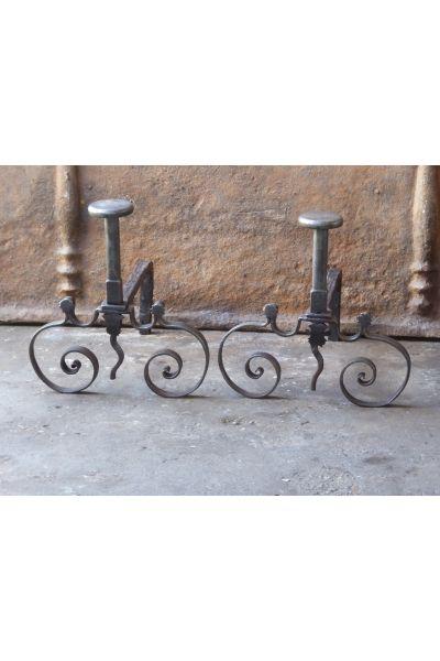 Louis XV Iron Andirons made of 15