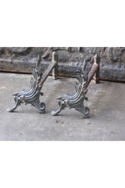 Louis XV Style Andirons made of 15,16