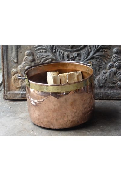 Polished Copper Firewood Bucket made of 15,33,47