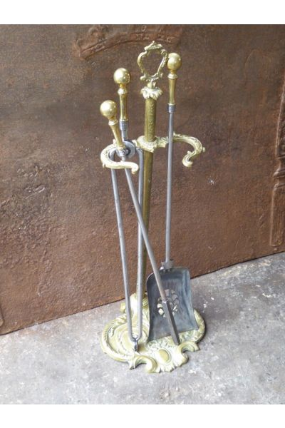 Victorian Fireplace Tool Set made of 16,32