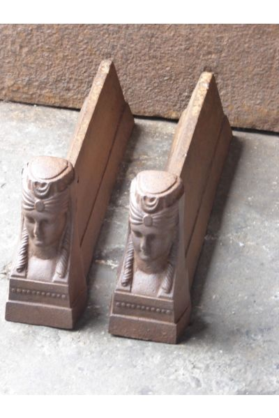 Sphinx Andirons made of 14