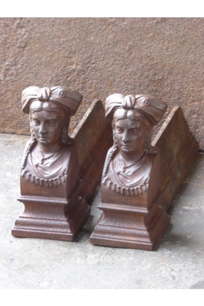 Alsacian Woman Andirons made of 14