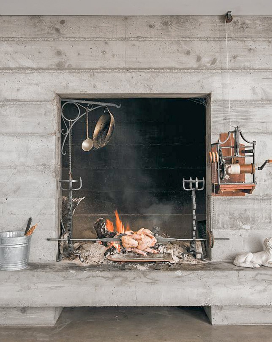 Cooking in the hearth