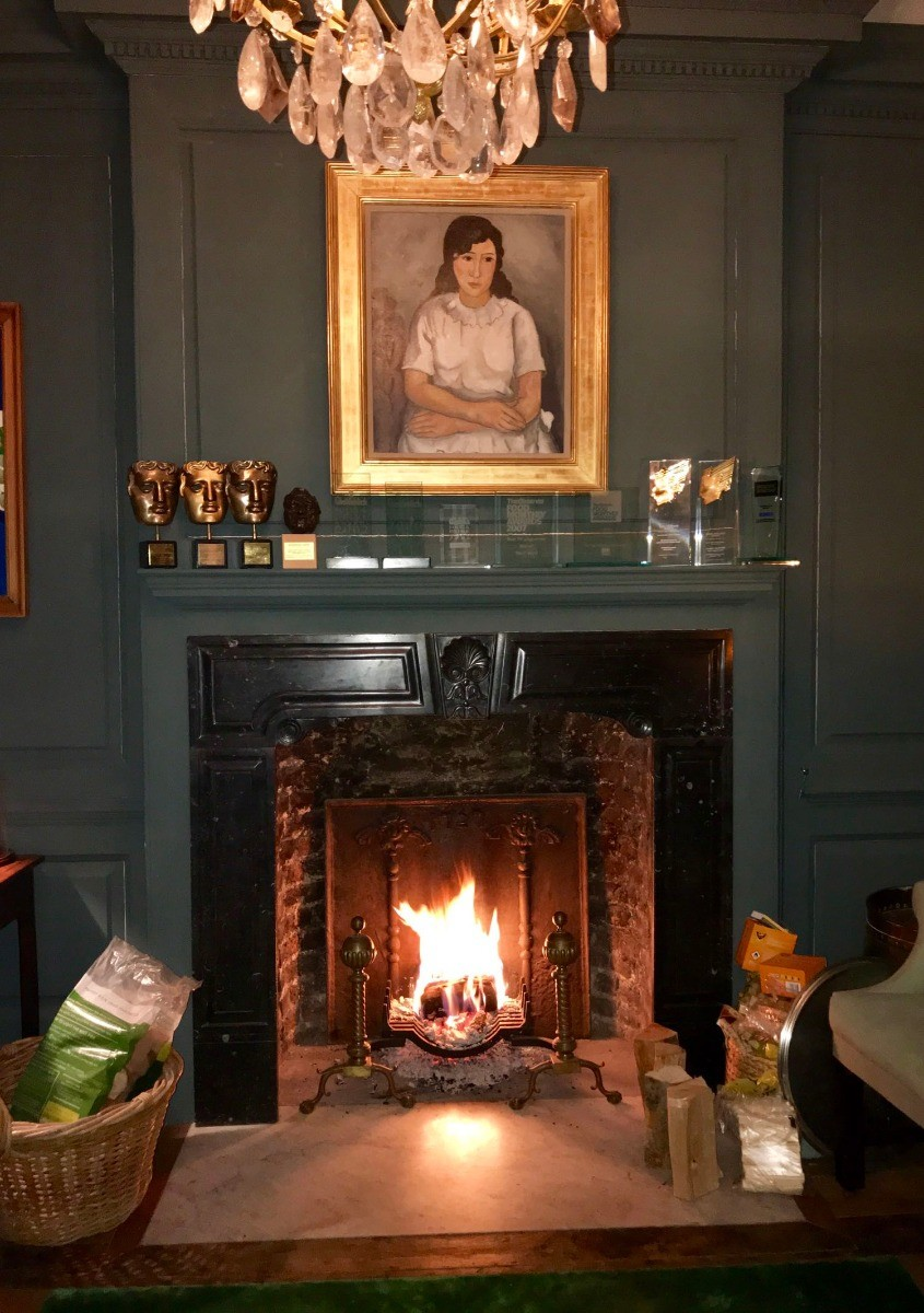 Fireback in beautiful UK fireplace