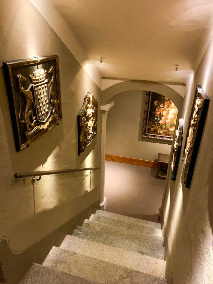 Decorative firebacks in Hotel Miramonti by https://www.firebacks.net