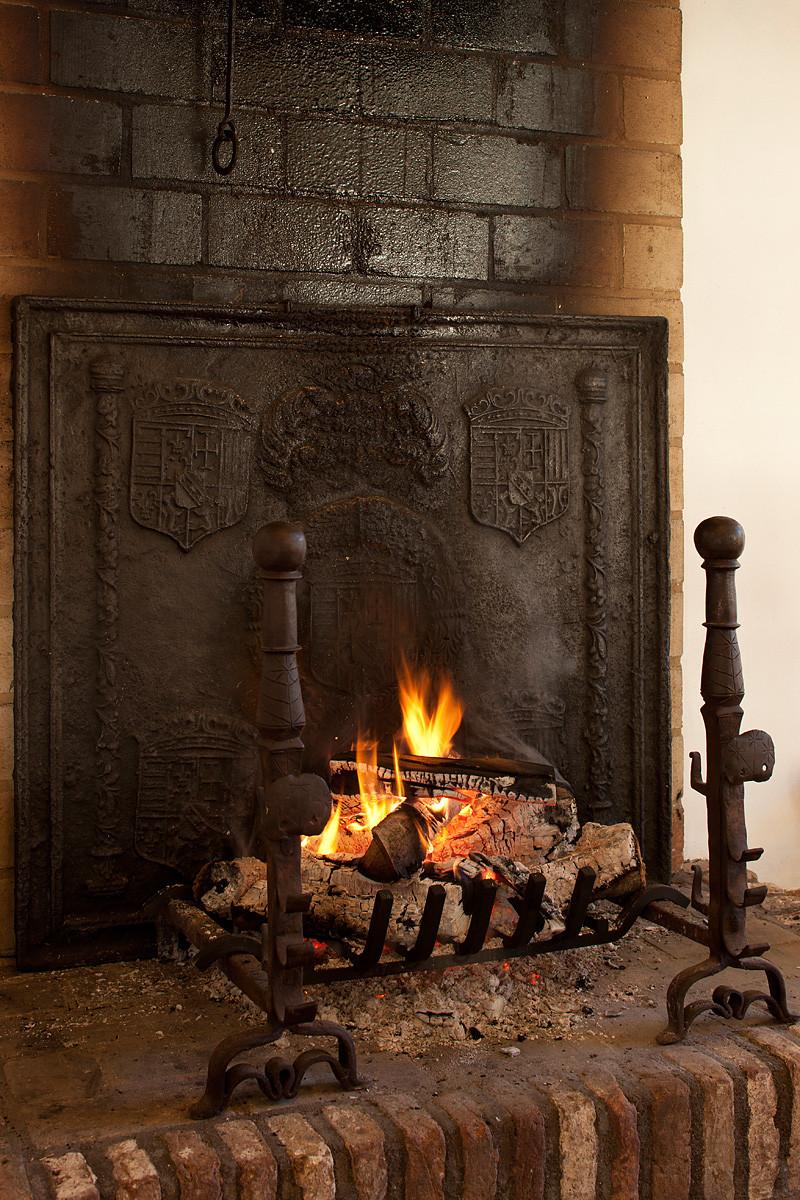 Antique fireplace by https://www.firebacks.net