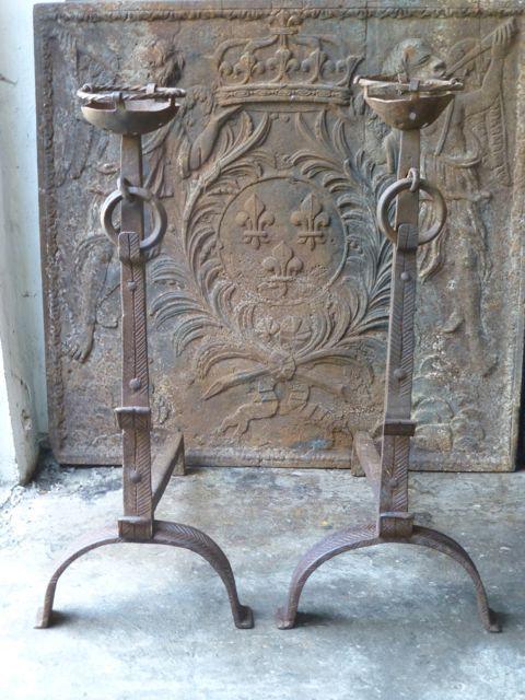 Chenets de style Louis XIII