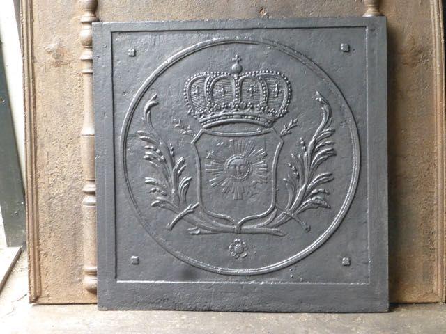 Plaque de cheminée éclectique