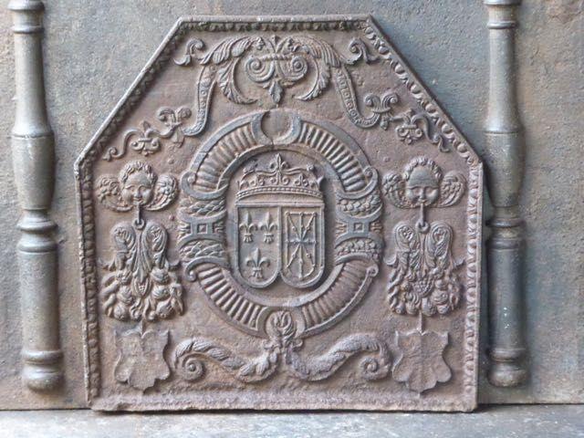 Plaque de cheminée époque Louis XIII