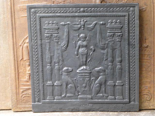 Plaque de cheminée époque empire