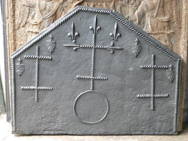 Plaque de cheminée époque gothique