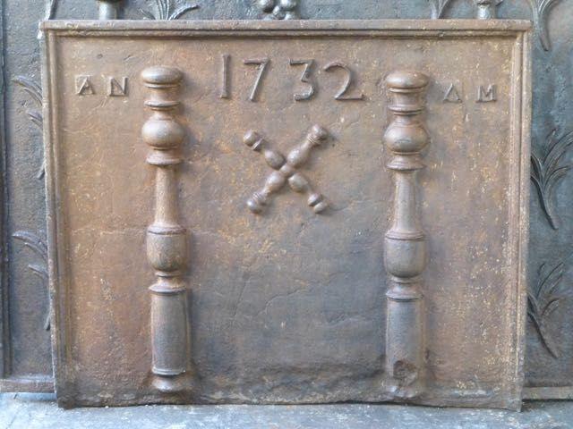 Taque de cheminée Louis XIV