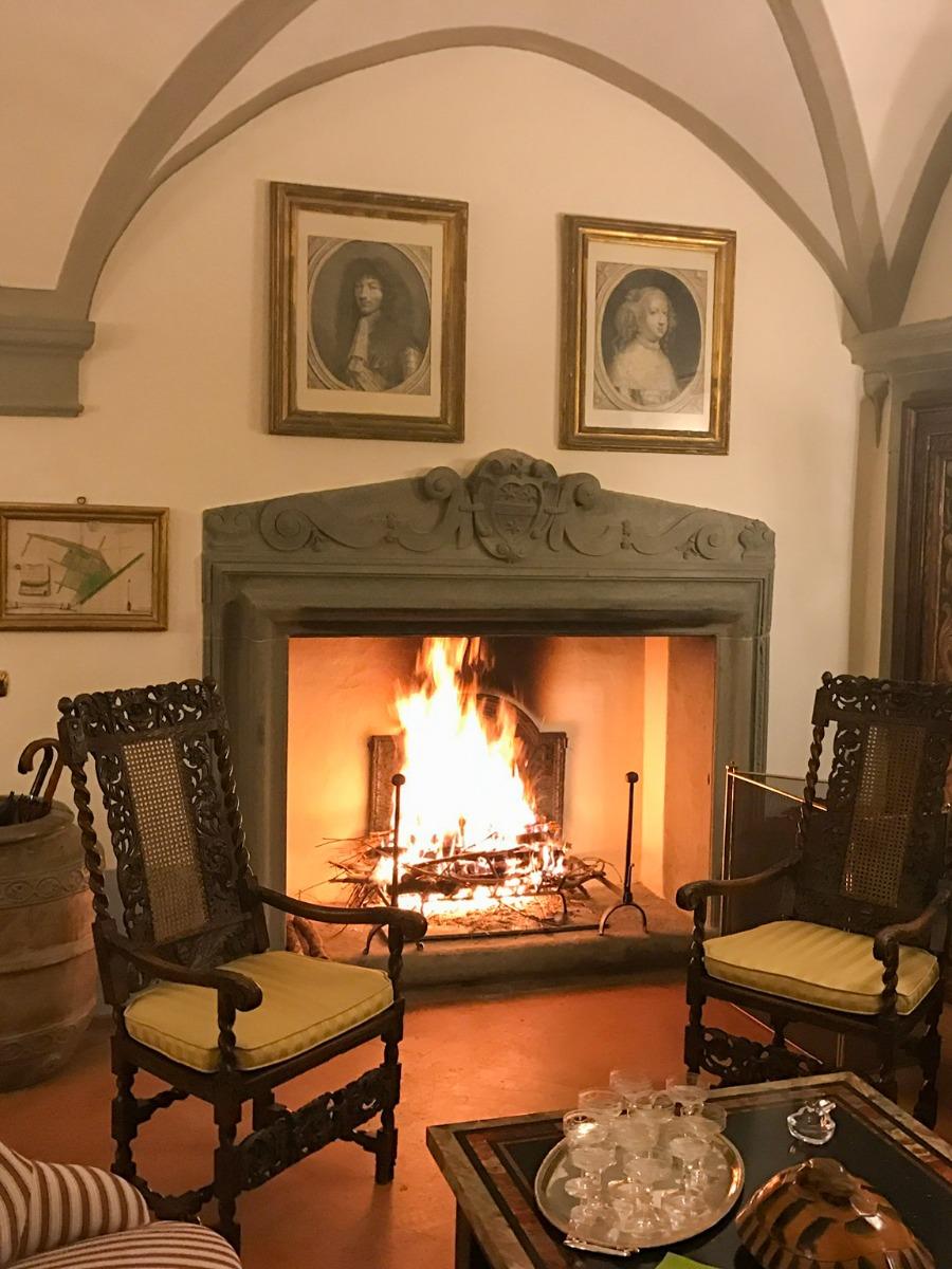 Fireplace fireback in Cortona