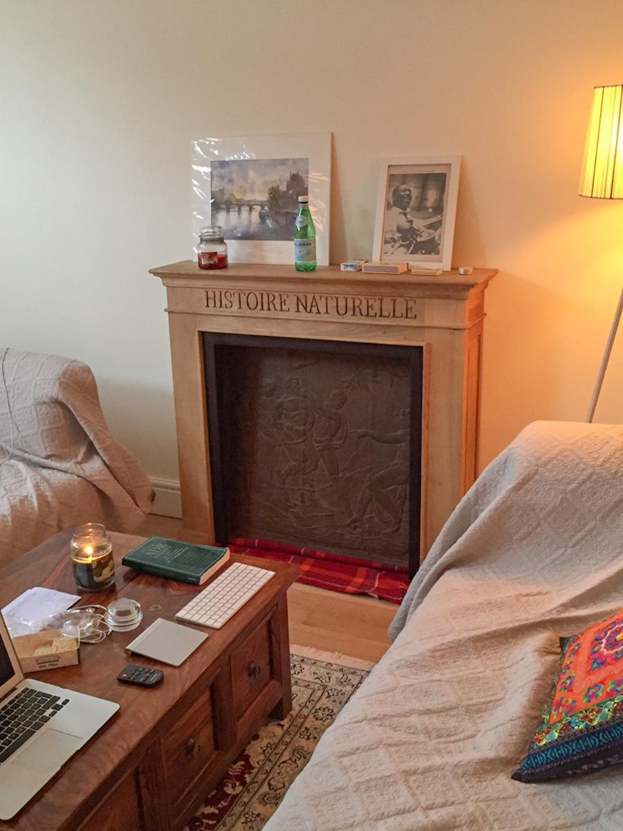 Decorative fireplace fireback and fire grate in London from https://www.firebacks.net