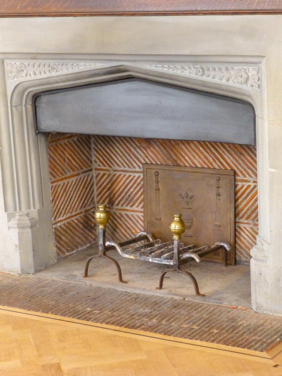 Antique firebacks and andirons in Museum Voorlinden